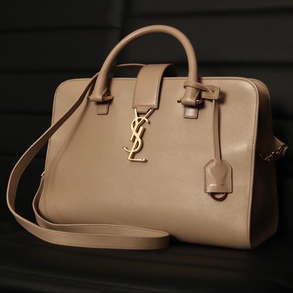 fdf8894fd83a Yves Saint Laurent Cabas YSL Monogram Satchel Bag.  M 5c47a307aaa5b8b5dcf7ec0e